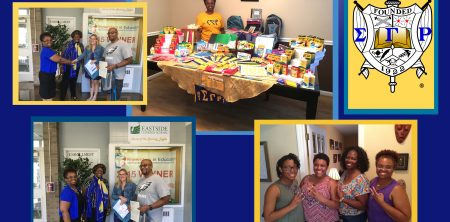 Alpha Nu Sigma Donates School Supplies to Charter School