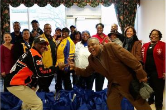 Alpha Nu Sigma Participates in NPHC  Thanksgiving Service Effort